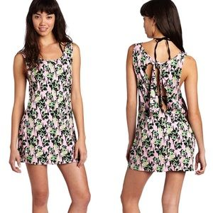 Volcom Break It Up Dress Floral Low Back Stretch